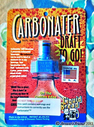 The carbonator for home brew in plastic bottle