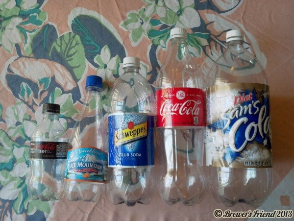 home brew packaging different size plastic bottles