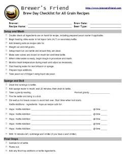 brewing allgrain checklist