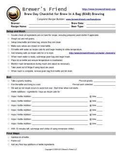 Biab Brewing Checklist Brewer S Friend