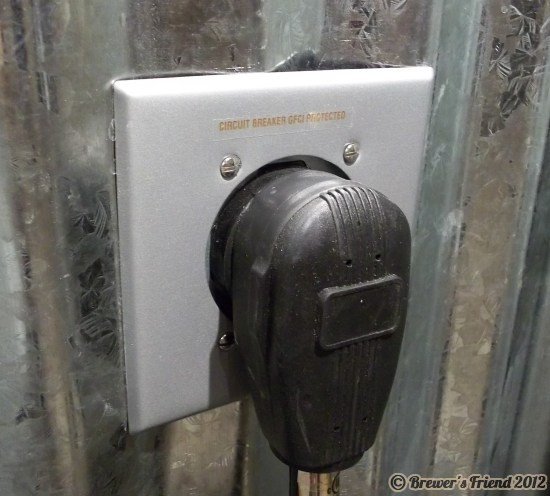 electric brew dryer outlet plug in