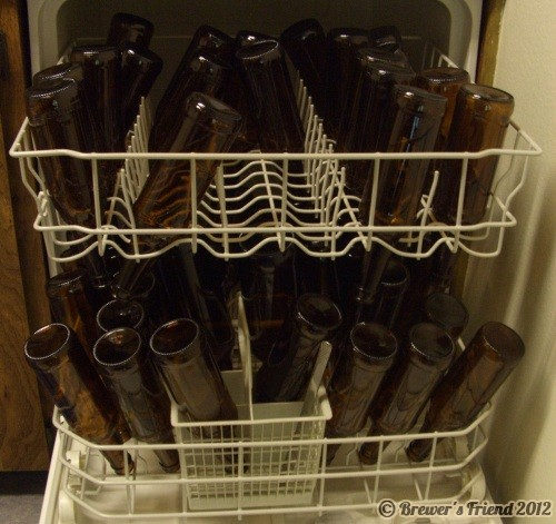 bottles home brew dish washer