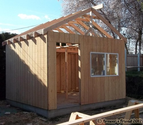 Brew shed framing