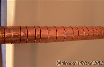 mash tun copper manifold slits