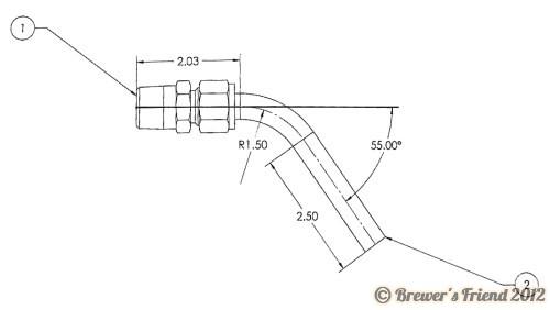 dip tube PORTL08-002