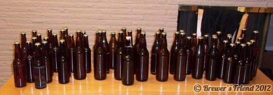 home brew in bottle