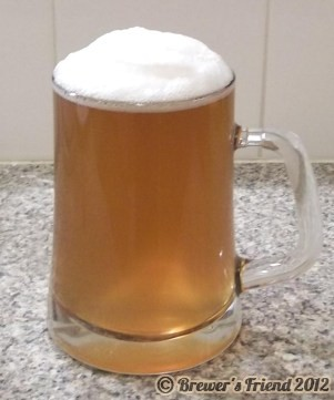 extra special bitter home brew foamy head