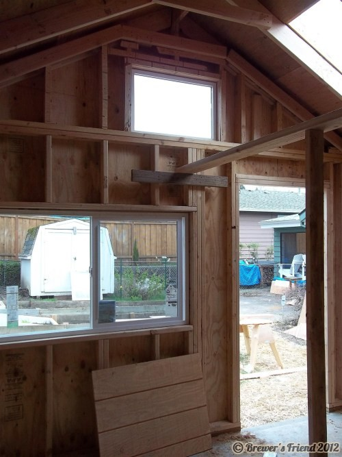 Brew shed looking outside