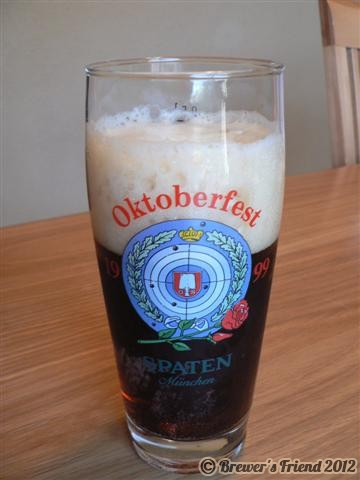 oktoberfest recipe and beer glass