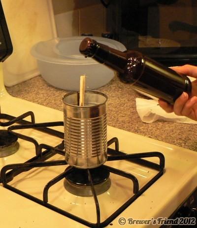 wax seal beer bottle
